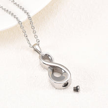 Load image into Gallery viewer, Infinity Cremation Necklace Opened
