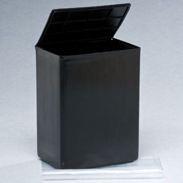 Plastic Urn For Ashes - Black Color, Airline Approved