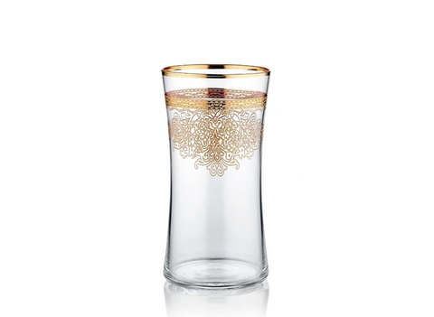 Click to shop Victoria Highball Glass Mat Gold Set
