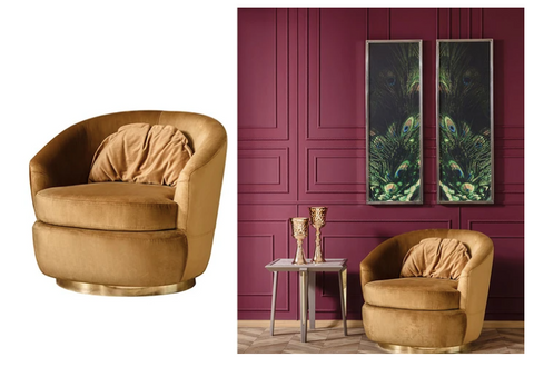 Click to shop Mimosa Armchair - Mustard