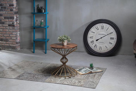 Parquet and Gold Dublin Side Table