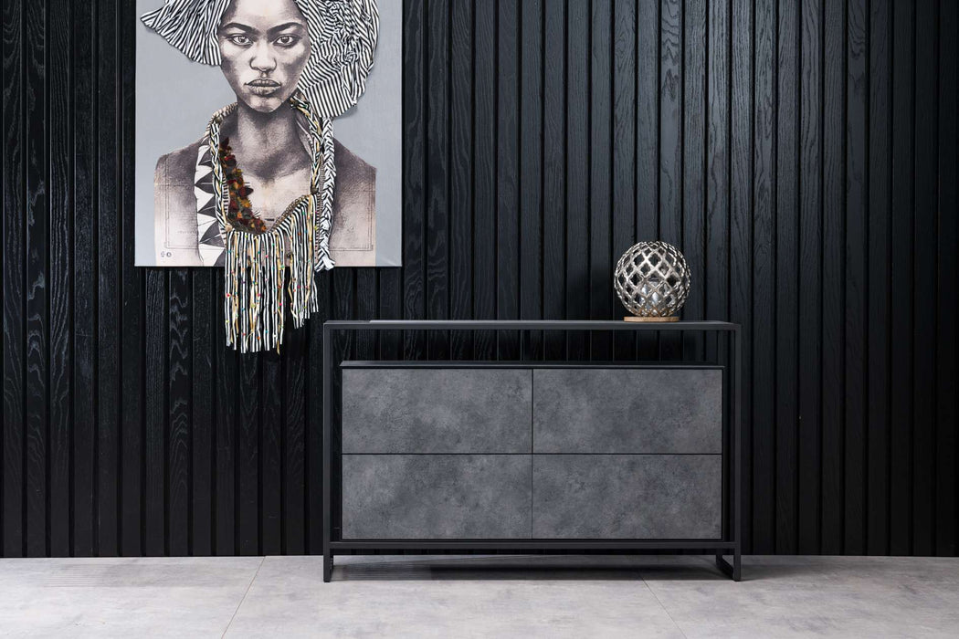 Atmacha - Home and Living Chest Of Drawers Concrete Sao Paulo Chest Of Drawers