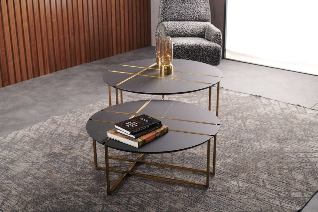 Atmacha - Home and Living Coffee Table Glam Twin Coffee Table Set | Set of 2