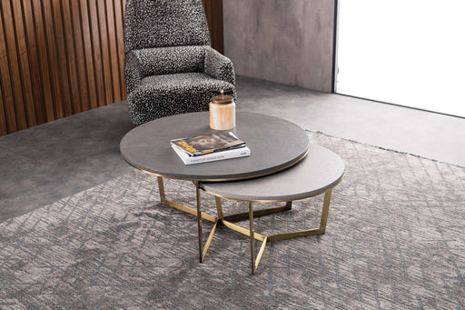 Atmacha - Home and Living Coffee Table Grey & Light Grey Maria Twin Coffee Table