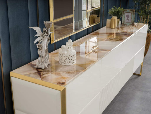 Atmacha - Home and Living Console Gold / Console & Mirror Style Console & Mirror