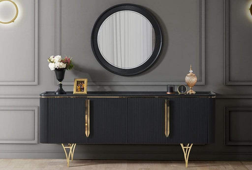 Atmacha - Home and Living Console Gustava Sideboard - Anthracite Black