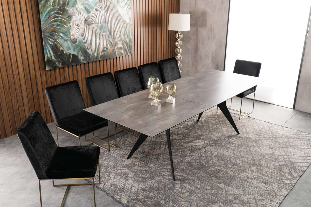 Atmacha - Home and Living Dining Table Anthracite Natura Extendable Dining Table