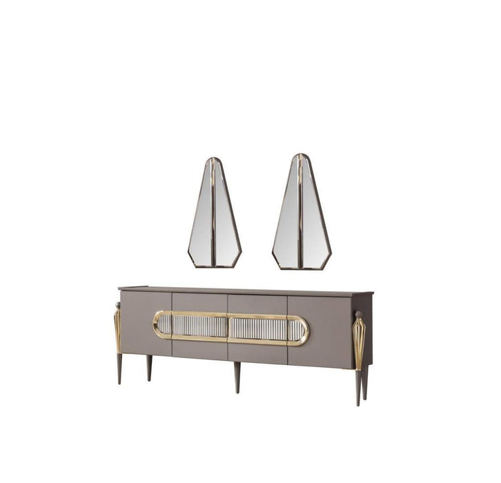 Atmacha - Home and Living Dining Table Sideboard & Mirror Minimal Living Room Set