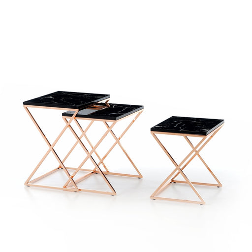 Atmacha - Home and Living Nest of Table Dotori Nest of Table - Black and Rose Gold