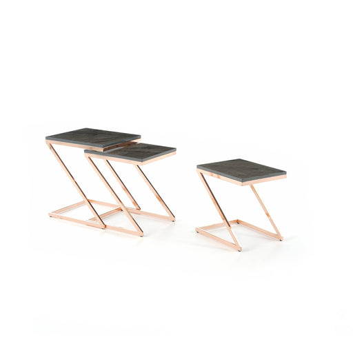 Atmacha - Home and Living Nest of Table Eclipse Nest of Table - Black and Rose Gold