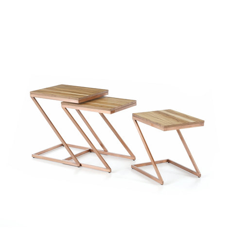 Atmacha - Home and Living Nest of Table Eclipse Nest of Table - Oak and Rose Gold