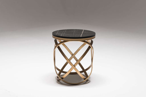 Atmacha - Home and Living Side Table Black Marble Effect Olly Side Table