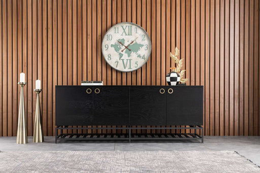 Atmacha - Home and Living Sideboard Matte Black Star Sideboard