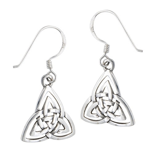 Silver Celtic Triquetra / Trinity Knot Dangle Earrings