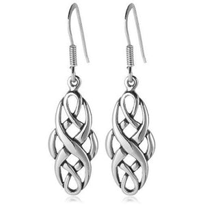 Silver Celtic Knotwork Dangle Earrings