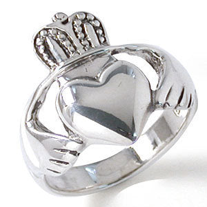 Large Sterling Silver Men's Irish Claddagh Ring