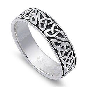 Silver Celtic Triquetra / Trinity Knot Ring