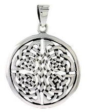 Silver Celtic Shield of Destiny Pendant + Free Chain