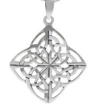 Large Silver Celtic Mother's Knot Pendant + Free Chain