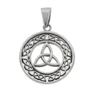 Silver Celtic Triquetra / Trinity Knot Pendant + Free Chain