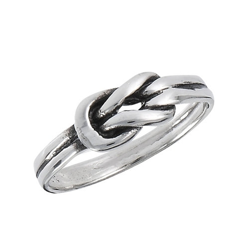 Silver Celtic Love Knot Heart Ring