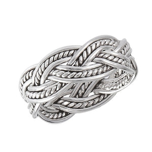 Silver Celtic Braided Weave of Eternity Ring