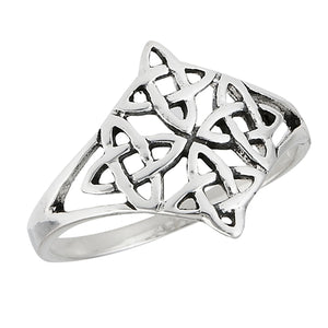 Silver Celtic Knotwork Ring