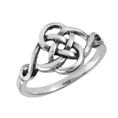 Silver Celtic Power of Nature Knot Ring