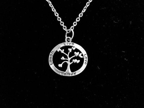 Handcast 925 Sterling Silver Tree of Life Pendant + Free Chain