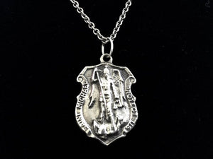 Handcast 925 Sterling Silver St. Michael Patron Saint Necklace