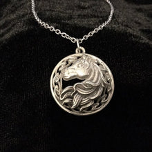 Handcast 925 Sterling Silver Celtic Epona Horse Pendant + Free Chain