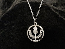 Handcast 925 Sterling Silver Scottish Thistle Pendant + Free Chain