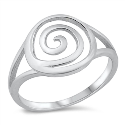 925 Sterling Silver Celtic Spiral Ring Band Size 4-10