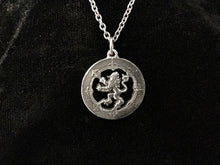 Handcast 925 Sterling Silver Scottish Lion Rampant Necklace