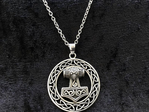 Handcast 925 Sterling Silver Viking Norse Thor's Hammer Mjolnir Pendant Necklace + Free Chain