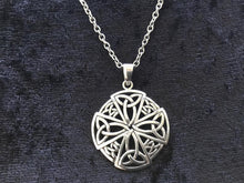 Handcast 925 Sterling Silver Equal Sided Celtic Cross Pendant Necklace + Free Chain