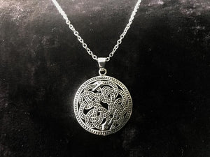 Large Handcast Ouroboros Uroboros Pendant made from nickel free 925 Sterling Silver + Free Chain