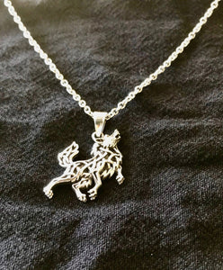 Unique Handcast 925 Sterling Silver Irish Celtic Fox Pendant + Free Chain