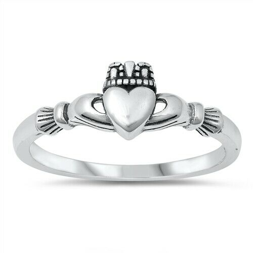 Sterling Silver Irish Claddagh Ring Size 4-10