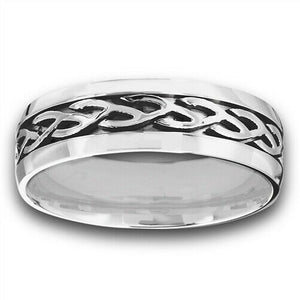 316L Surgical Stainless Steel Celtic Weave Ring Band