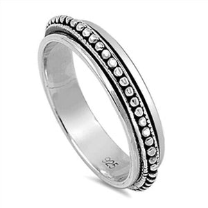 Sterling Silver Unisex Weave Spinner Ring