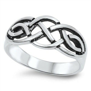 Silver Celtic Knot Ring Size 4-10