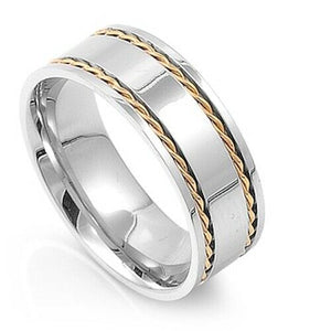 Large 316L Surgical Stainless Steel Band Ring