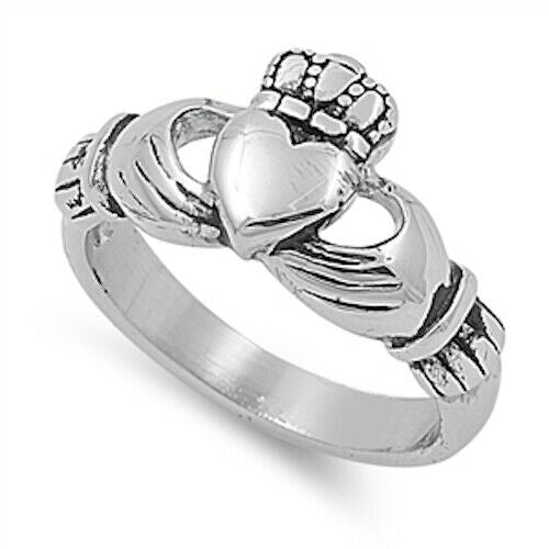 316L Surgical Stainless Irish Claddagh Ring