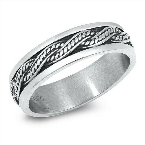 316L Surgical Stainless Steel Celtic Weave Band Ring