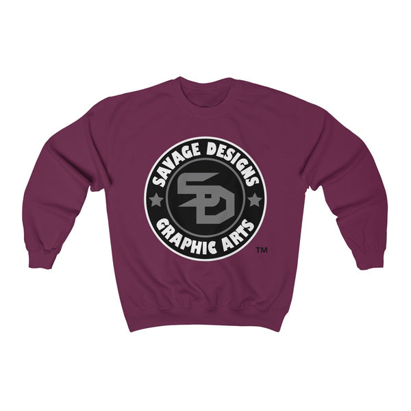 Savage Designs Symbol Patch Black/Grey/White Sweatshirt Color #2- 5 Colors