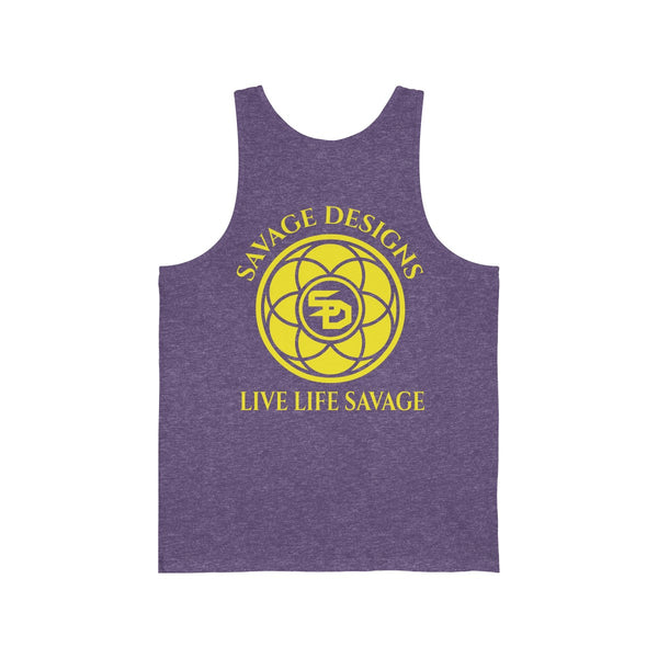Savage Designs Egyptian Seed of Life Yellow Tank Top- 9 Colors