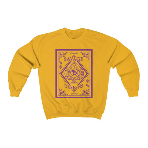 Savage Designs Ace of Spade Purple Sweatshirts- 1 Color