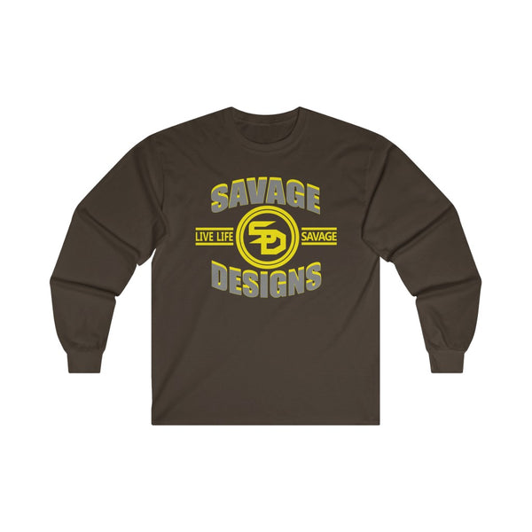 Savage Designs Dead Focus Grey/Yellow Long Sleeve- 2 Colors
