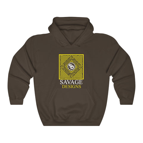 Savage Designs Optical Illusion Yellow/White Hoodie- 4 Colors